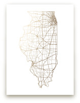 Illinois Map by GeekInk Design