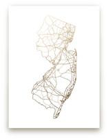 New Jersey Map by GeekInk Design