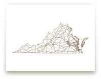 Virginia Map by GeekInk Design