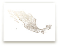 Mexico Map by GeekInk Design