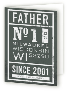 No. 1 Father's Day Greeting Cards
