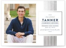 Classic Stripes Grad Foil-Pressed Graduation Announcements