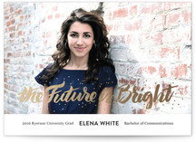 The Future Is Bright Foil-Pressed Graduation Announcements