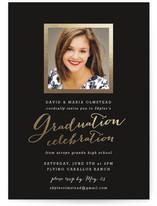 Modern Photo Frame Foil-Pressed Graduation Announcements