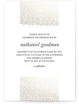 Delicate Dots Foil-Pressed Graduation Announcements