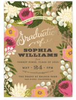Floral Canopy Foil-Pressed Graduation Announcements