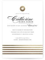 Golden Grad Foil-Pressed Graduation Announcements