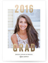 Simple Grad Foil-Pressed Graduation Announcements