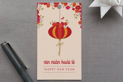 Xin Nian Kuai Le Gift Tags