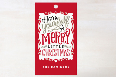 Merry Typography Gift Tags