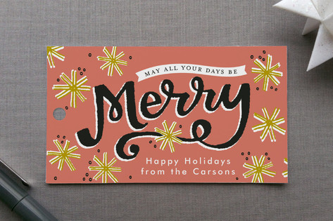 Merry Snowflakes Gift Tags