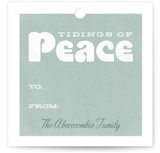 Peaceful Tidings Gift Tags