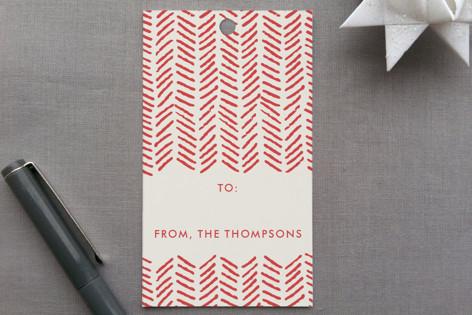 Handdrawn Herringbone Gift Tags