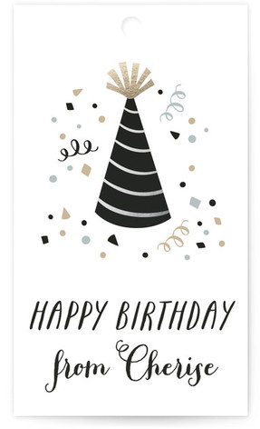 Birthday Confetti Gift Tags