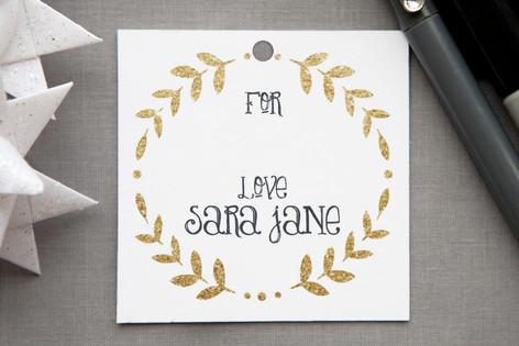 Glittering Monogram Gift Tags