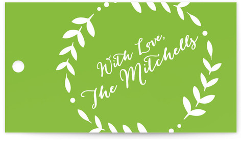 Stamped Linen Gift Tags