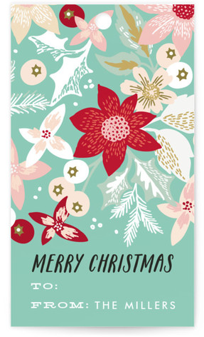Holiday Bouquet Gift Tags