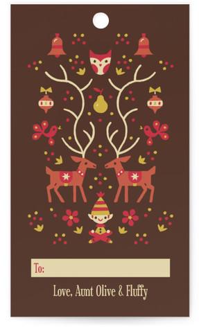 Woodland Christmas Gift Tags