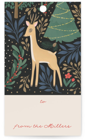 Reindeer Forest Gift Tags