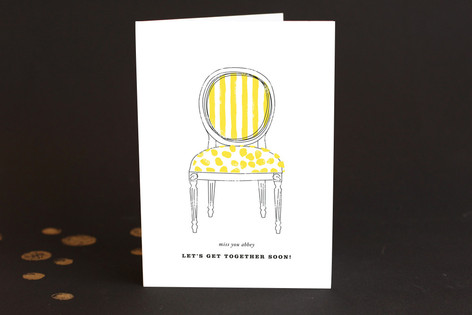 Awning Stripes Just Because Greeting Cards