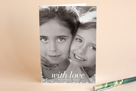 With Love Just Because Greeting Cards