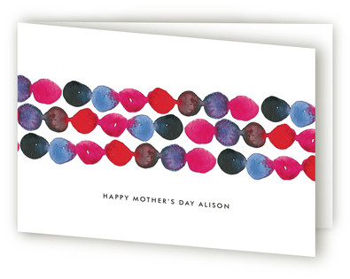 Watercolor Flowing Dots Mother's Day Greeting Cards