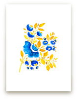 Blue and Yellow by Petra Kern