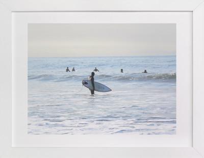 Early morning surfer, Venice Beach Art Print