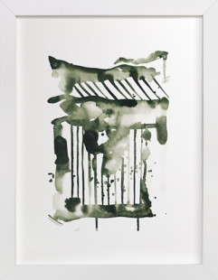 Falling Strokes Art Print