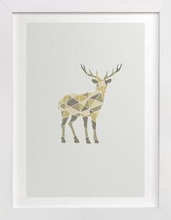 Deer Geometry Art Print