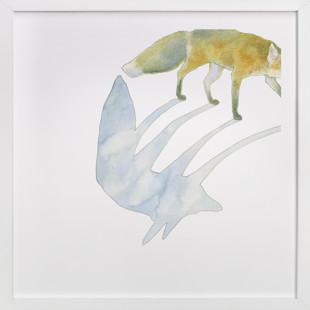 Fox Shadow Art Print