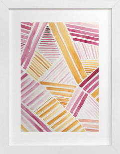 Patchwork Stripe Art Print