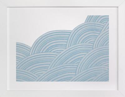 Geometric Tides Art Print