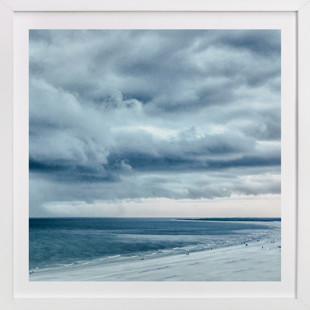 Blue Beach Storm Art Print