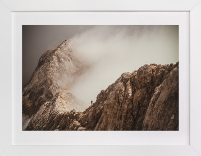 Man and a Mountain Art Print