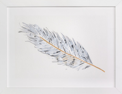 Grey Feather Art Print
