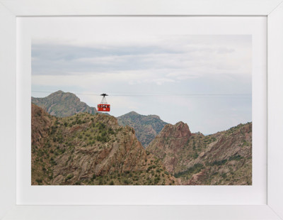 Red Cable Car Art Print