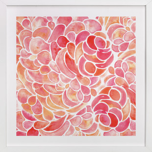 Abstract Peony Watercolor Art Print