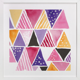 Watercolor Geometry Art Print