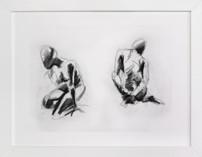 Gestural Figures in Charcoal