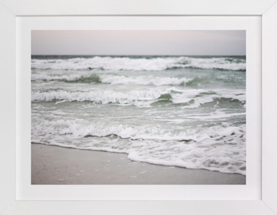 Monochrome Shore Art Print