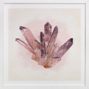 Natural Amethyst Art Print