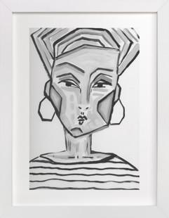Lady Gray Art Print