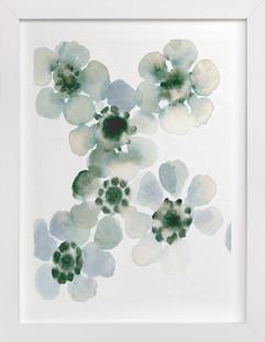 Misty Blossoms Art Print