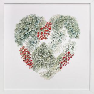 Lichen Heart Art Print