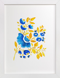 Blue and Yellow Art Print