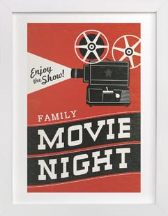 Family Movie Night Art Print