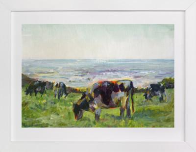 Marin Cows Art Print