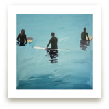 3 Surfers Waiting, Veni... by Annie Seaton