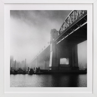 Misty Burrard Bridge Art Print